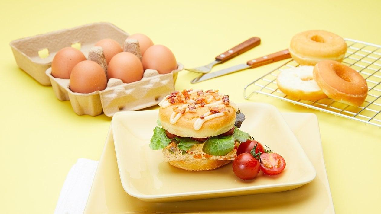 โดนัทไข่คนแบบอบ