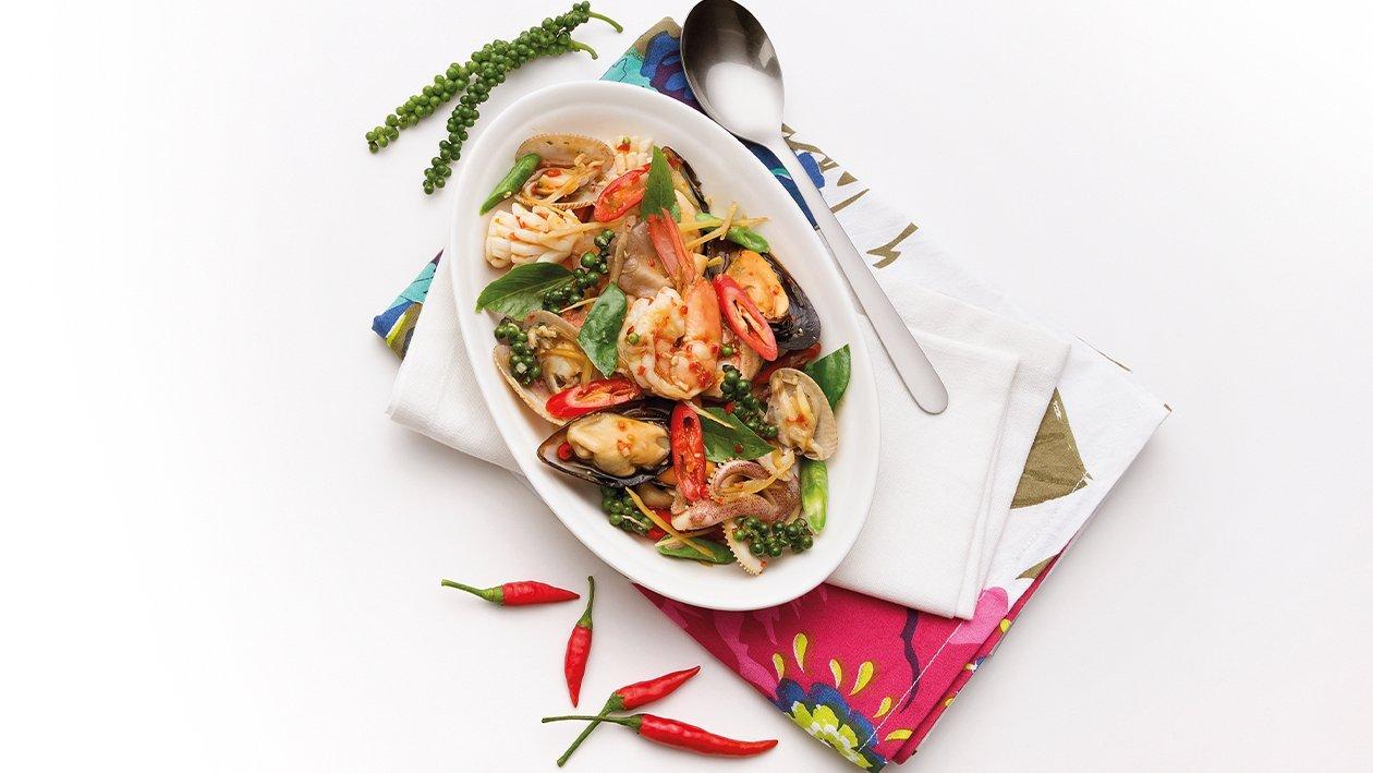 Spicy Stir-Fried Seafood